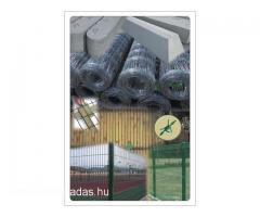 kerítés építés elem betonoszlop vadháló drótfonat vezérdrót tüskés huzal