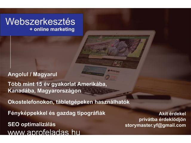 Webszerkesztés, online marketing