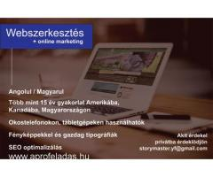 Webszerkesztés, online marketing