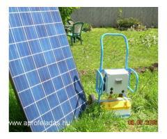 Hordozható napelemes töltő, áramforrás - 220V - 1500W