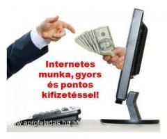 Keressen pénzt napi kifizetéssel Neten végezhető távmunkával