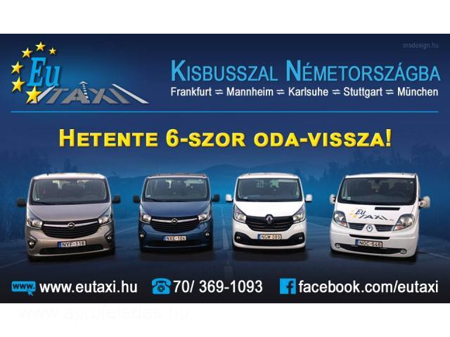 EuTAXI - Személyszállítás kisbusszal Ausztriába, Németországba!