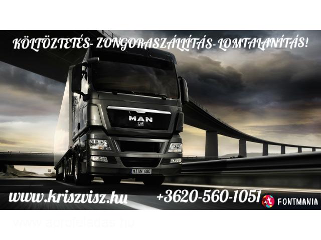 KÖLTÖZTETÉS-ZONGORASZÁLLÍTÁS-LOMELSZÁLLÍTÁS! +3620/560-1051